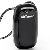 AirTamer A315 Black | USB Personal Negative Ion Generator, Air Purifier Necklace