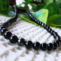 Black Tourmaline Magnetic Necklace 43/50/55/60cm (16.9/19.6/21.6/23.6