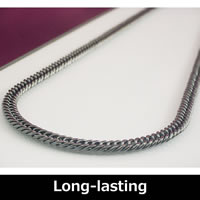 Pure Titanium & Germanium Curb Chain Necklace 50cm (19.6