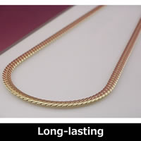 Pure Titanium Herringbone Necklace (Pure gold plated) 50cm (19.6