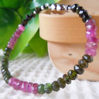 Mixed Color Tourmaline Bracelet (Button Beads) 16/17/18/19/20/21cm (6.2/6.6/7/7.4/7.8/8.2