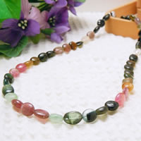Mixed Color Tourmaline Necklace (Oval Beads) 43/50/55/60cm (16.9/19.6/21.6/23.6