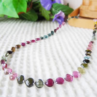 Mixed Color Tourmaline Necklace (Heart Beads) 43/50/55/60cm (16.9/19.6/21.6/23.6